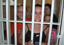 Kids Pretending in Jail